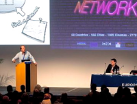 Peter Buckingham and Michael Gubbins at Europa Cinemas conference